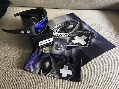 CUSTOM Oakley Batwolf Infinite Hero Carbon & Violet Rare Sunglasses Collectors