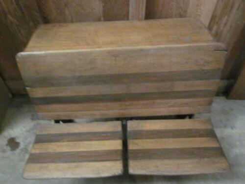 "Old ""Barlington Co."" made double seated School Desk!"