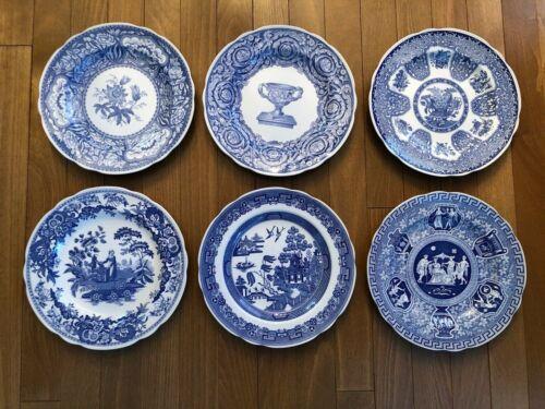 Spode - Blue Room Collection - Dinner Plates - Set of 6 - Excellent
