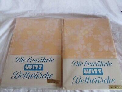 Witt Weiden MAKO Bettwäsche orange Aussteuer 140 x 200 Neu
