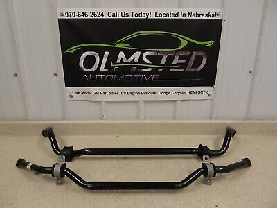 05 13 Chevrolet C6 Corvette OEM GM Z06 Front Rear Sway Bar 15262804 Original 23K