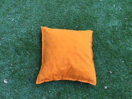 Orange, square cushion with edging Mosman Mosman Area Preview