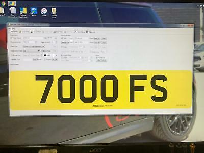 7000 FS   CHERISHED PRIVATE NUMBER PLATE DVLA REG