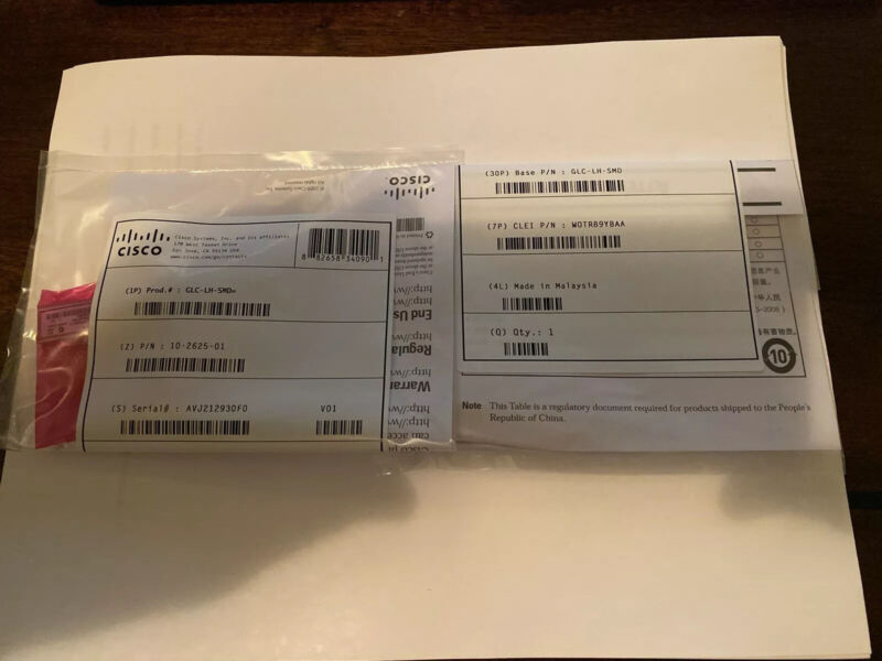Genuine Cisco GLC-LH-SMD (GBIC) Transceiver Module CLEAN SERIAL SAME DAY SHIPPIN