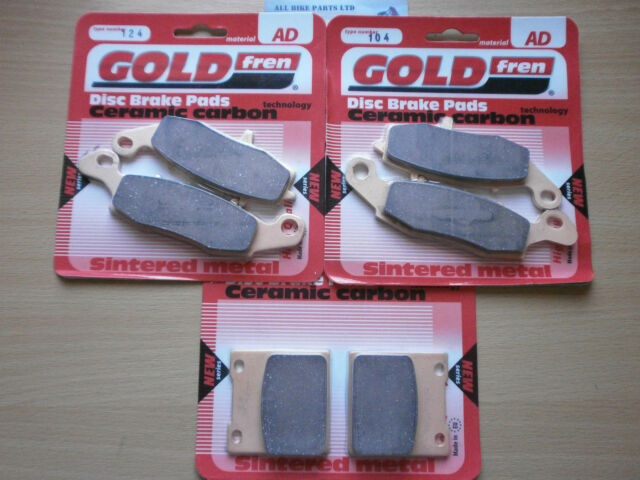 FULL SET SINTERED HH FRONT & REAR BRAKE PADS For: SUZUKI GSF 600 BANDIT (2000)