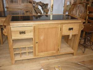 vancouver premium solid oak amp granite kitchen island