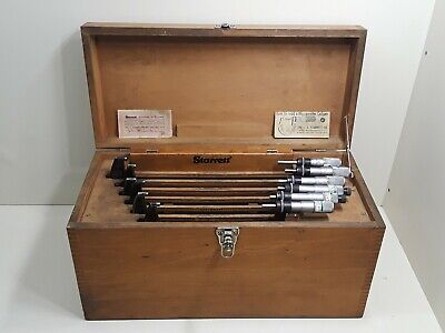 Starrett Model 436 6-12 Micrometer Set In Case With Standards Mixed Set