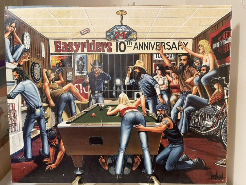 """Easy Rider Poster Pool Hall Party 16"""" x 20"""""""