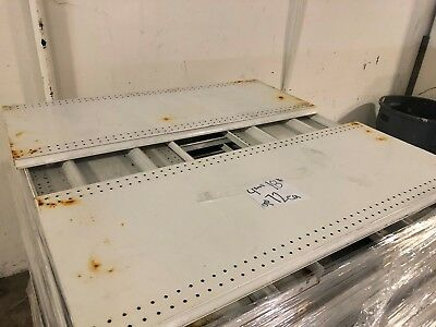 Gondola Store Shelving 48 X 18.5 White 72 Available Used
