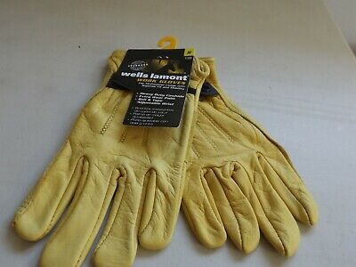Wells Lamont Brand Leather Work Gloves Size Small New With Tags
