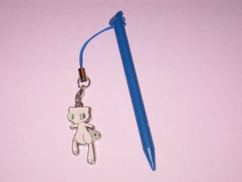 (Blue) Nintendo New 3DS XL Stylus With Pokemon Mew Charm Attached