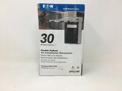 Eaton Corporation Dpf221rp Pullout Air Conditioner Disconnect 30-amp