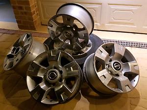4x Original Nissan Patrol Rims + 1 Rim with Tyre Cranebrook Penrith Area Preview