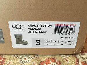 Metallic Gold UGG boots - Size 3