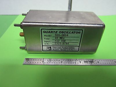 Wenzel Quartz Oscillator 10 Mhz Frequency Calibrator Standard Low Noise Bin38