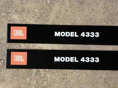 Pair JBL 4333 Front panel ( grill ) Labels ( 2 Pcs ) for JBL 4333 grill