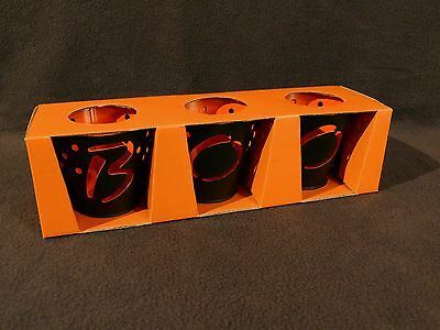 Halloween Candle Spells (Halloween candle holders, metal, set of 3 that spells BOO, BRAND NEW IN)
