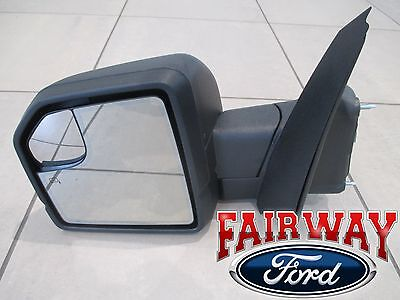 15 thru 18 F-150 OEM Ford Power Adj Heated Glass w/ Turn Signal LH Driver Mirror
