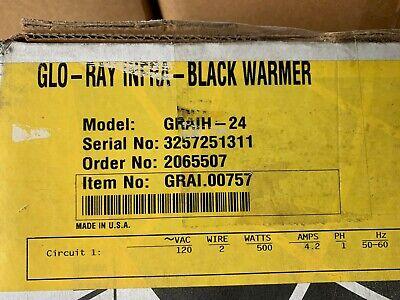 Hatco Graih-24 Glo-ray Single Infra Black Strip Warmer 120v 500w