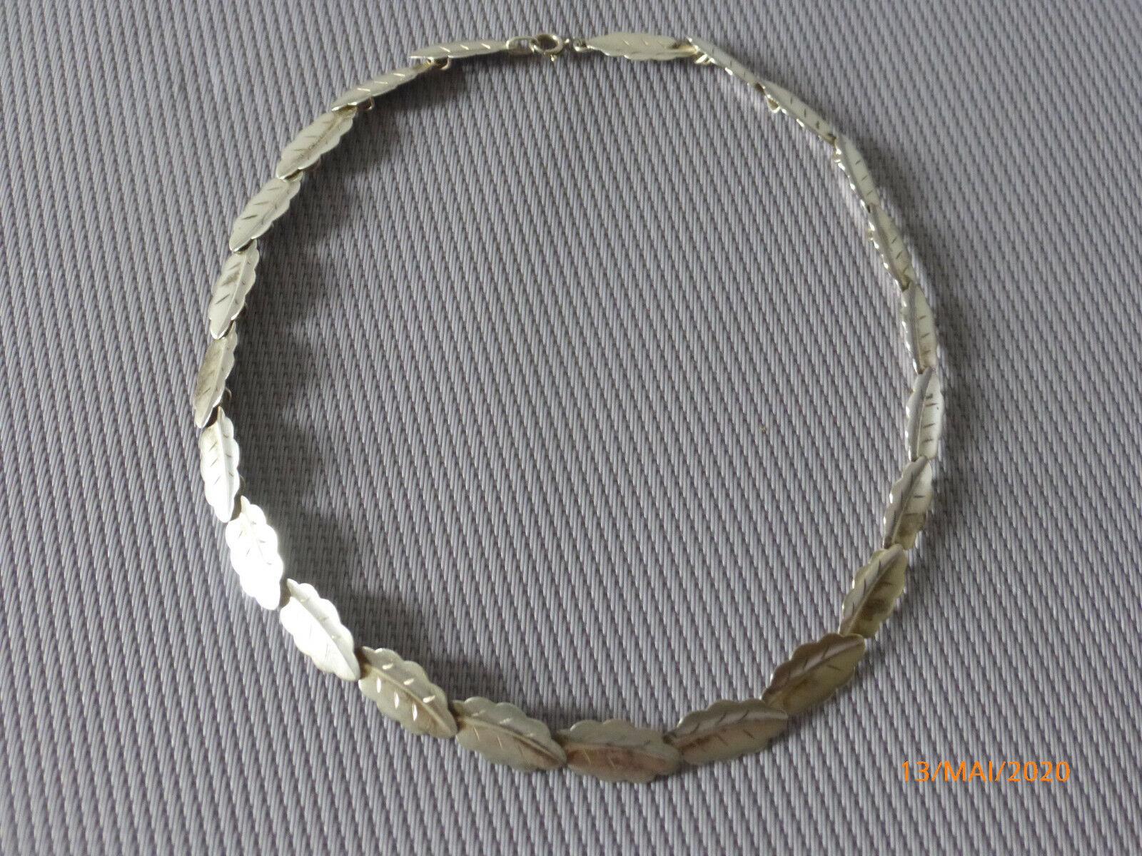 835 Silber TEKA Halskette Blatt , Blätter Halsschmuck, Kette, Collier
