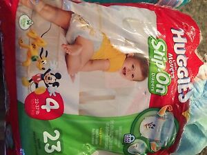 Size 4 Huggies movers slip on diapers