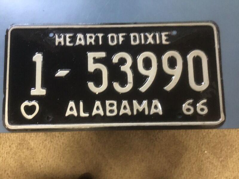 Alabama Car Tags 1966