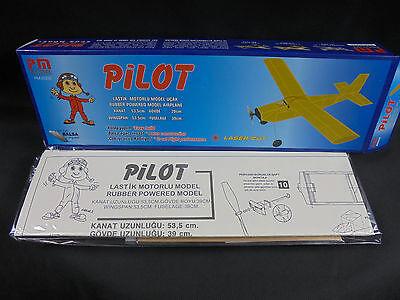 Modellbausätze Holzmodellbau Flugzeug Pilot PM-2002 Laser geschnitten OVP