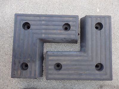 1 Pair Rubber Truck Loading Dock Bumper 17 34 Sides 7 34 Width L-shaped E6