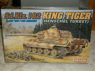Dragon 1/35 Scale Sd.Kfz.182 King Tiger (Henschel Turret). - Factory Sealed, used for sale  New Orleans