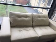 2 seater leather sofa couch Melbourne CBD Melbourne City Preview