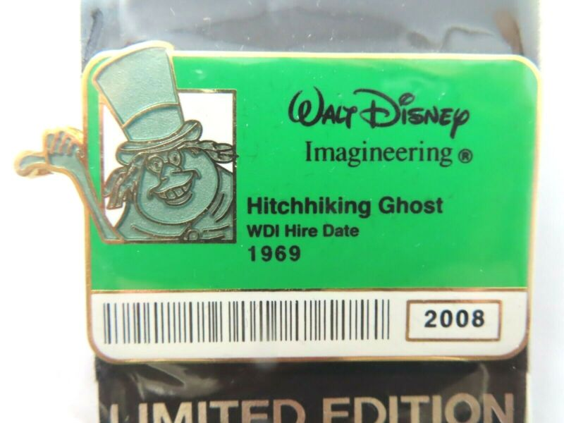 Disney Pin * WDI I.D. Badge Series 2 - Hitchhiking Ghost (Phineas) LE 300 #64507