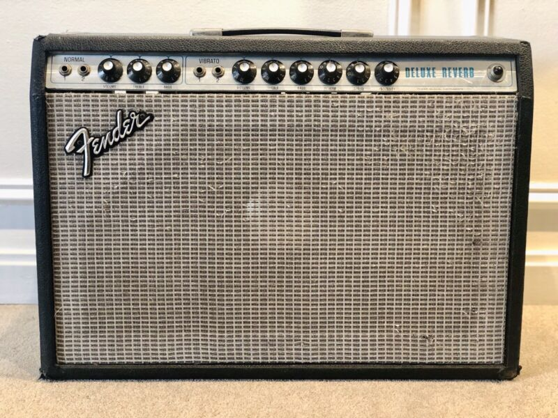 1977 Fender Silverface Deluxe Reverb Vintage Amplifier with JBL