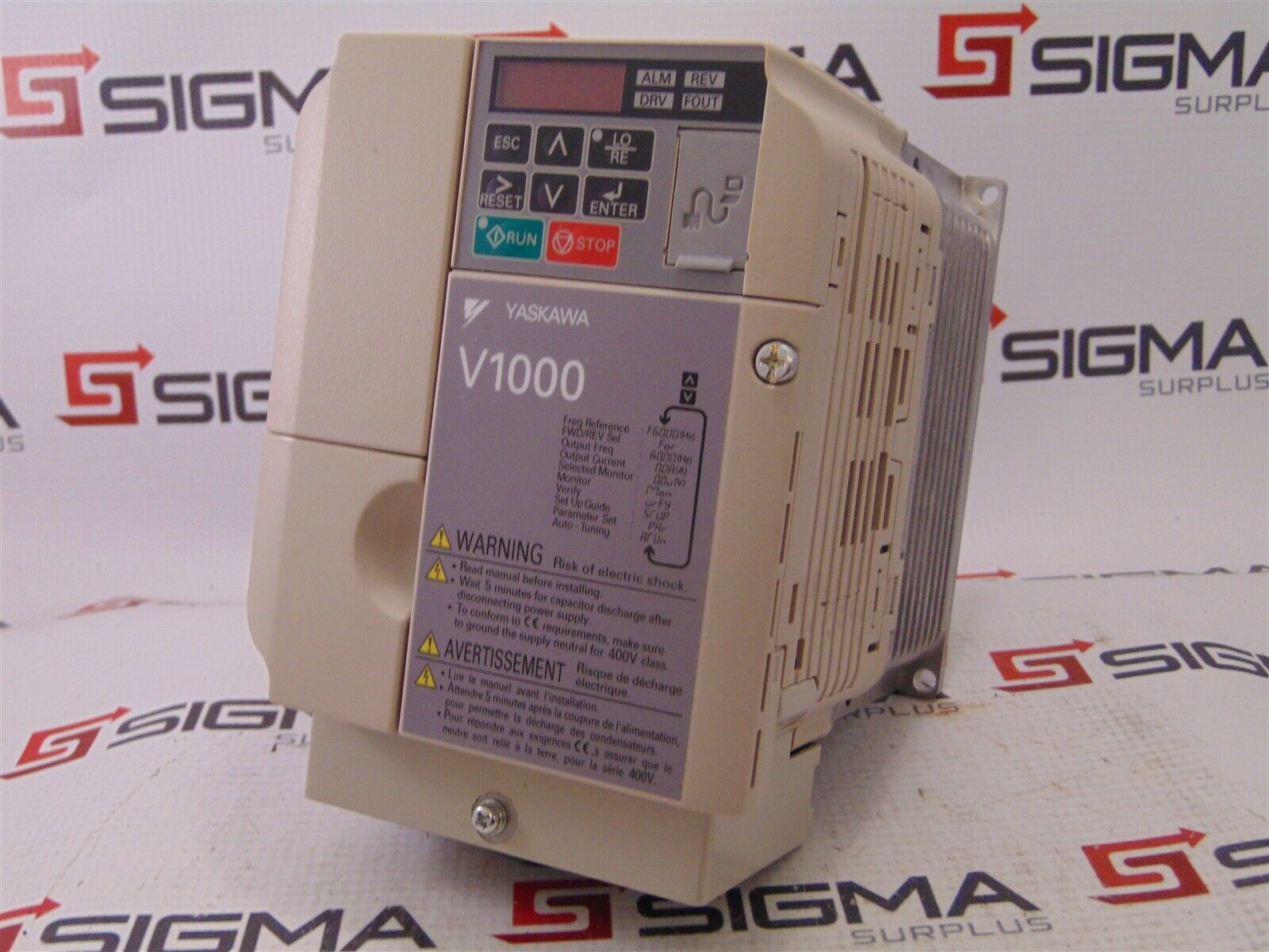 Yaskawa CIMR-VU4A0004FAA Variable Frequency Drive V1000 REV A Phase 3