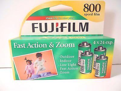 Fuji Film Superia X-tra  800 Speed 35mm  4 Rolls 96 exposures   Exp. 02/2017