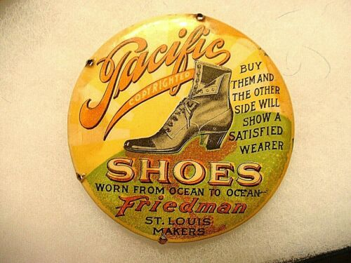 Antique Pacific Shoes  Friedman St. Louis Advertising Mirror