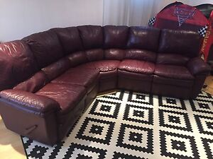 100% LEATHER SECTIONAL SOFA COUCH RECLINES