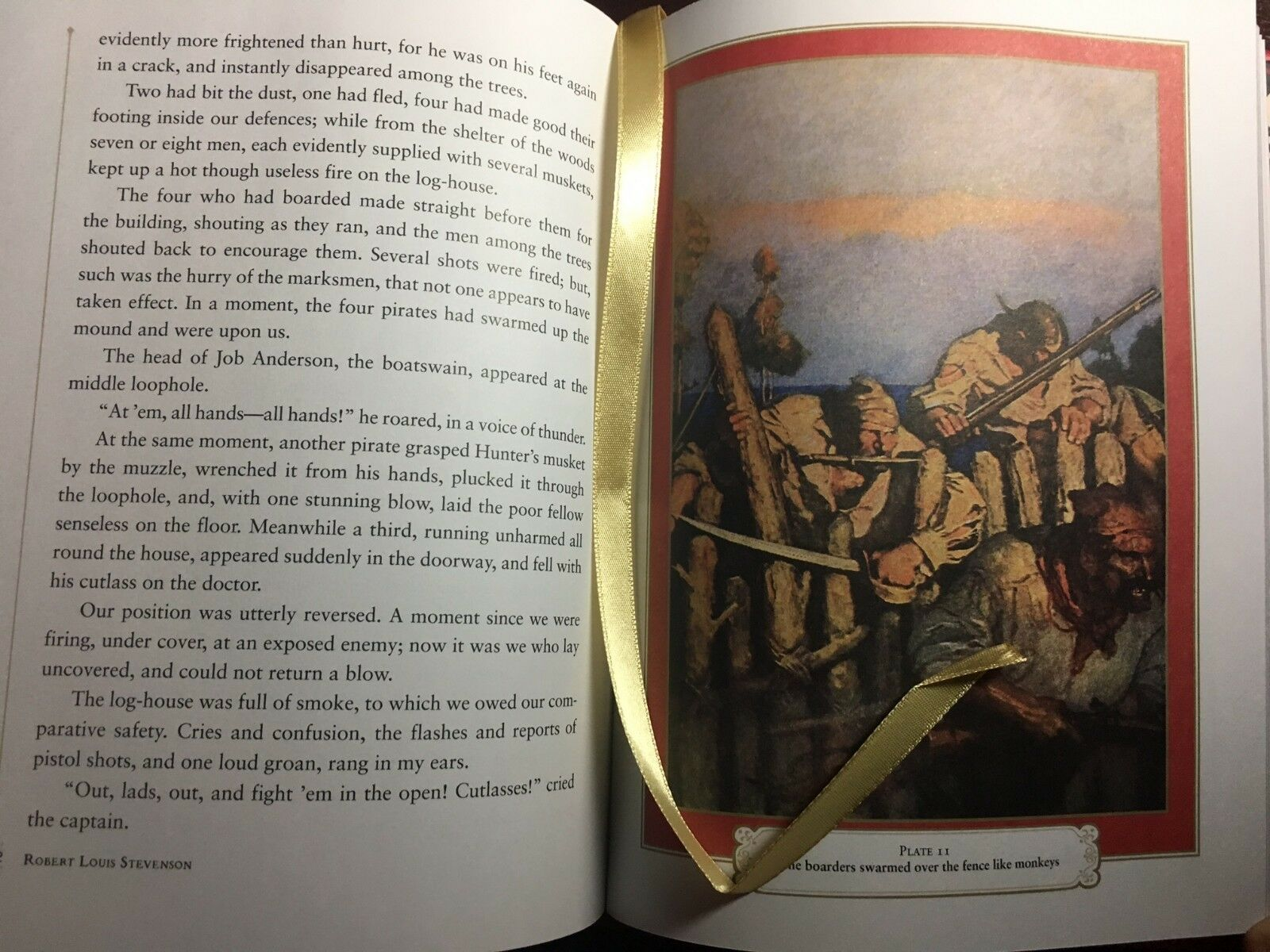 Treasure Island by Stevenson & Illustrated N.C. Wyeth Sealed Leather Hardback For Sale - 7