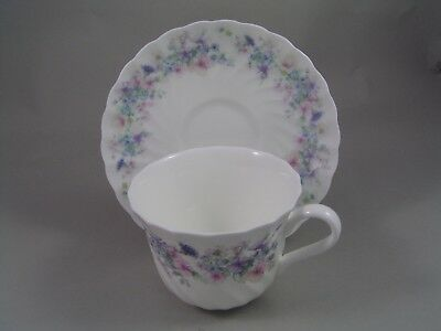 WEDGWOOD ANGELA FLUTED CUP AND SAUCER.