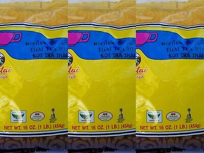 3 PACK SPECIAL! Pantai Thai Tea Leaves Mix Pantai Thai Iced Tea 1lbs*3 16oz*3pks