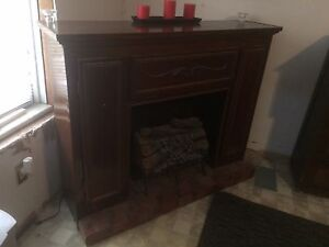 Free Antique Fake Fireplace/Storage Unit