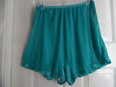 4 NYLON  PANTIES GREEN BRIEFS BLOOMERS COTTON CROTCH PLUS SIZE 8 or XL
