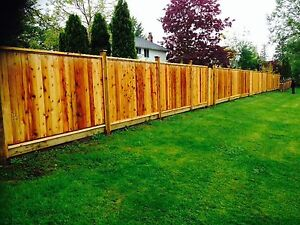 Superstar cedar fencing installation
