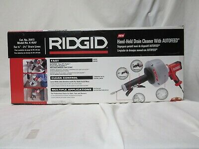 Ridgid K-45af Hand Held Drain Cleaner With Autofeed New