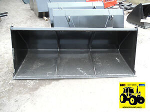 **NEW 1.4 1.6 1.8 2.0 mtr TRACTOR LOADER BUCKET ON EURO NO 8 BRACKETS**