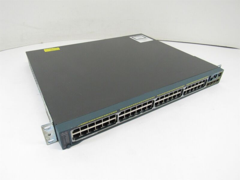Cisco WS-C2960S-24TS-L 24-Port  Managed Switch w// Racks Fast Shipping 1YrWty