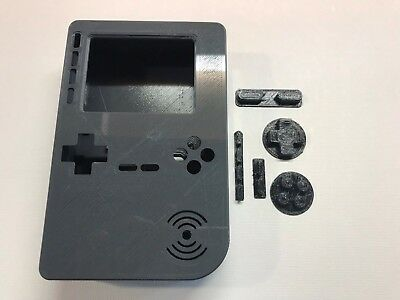 PiGRRL 2 All Grey Game Boy Case & Buttons for Raspberry Pi 2/3. UK. Free Post