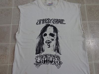UNHOLY GRAVE Catheter T-SHIRT Mens LARGE 6 Days Of Grind Terror Tour 7