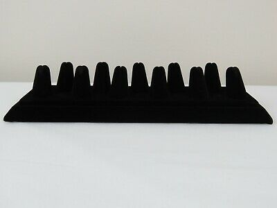 11 Finger Black Velvet Ring Display 11 X 3-38 Multi Ring Jewelry Display