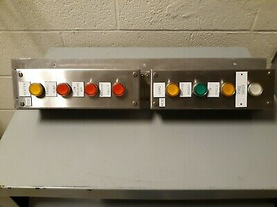 Lot Of 8 Push Buttons Telemecanique Zbe-101 With Hoffman Enclosures