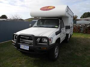 2004 Toyota Hilux camper/ motorhome Ulverstone Central Coast Preview